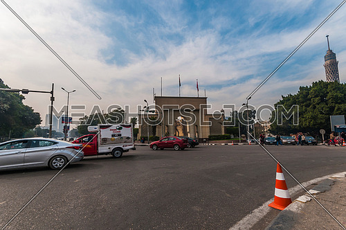 Long shot for Cairo Opera House Gate at Day