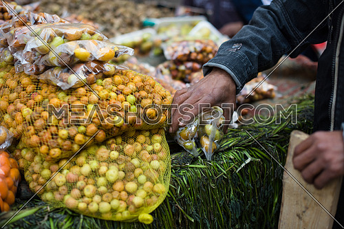 mixed fruit on middle eastern street market