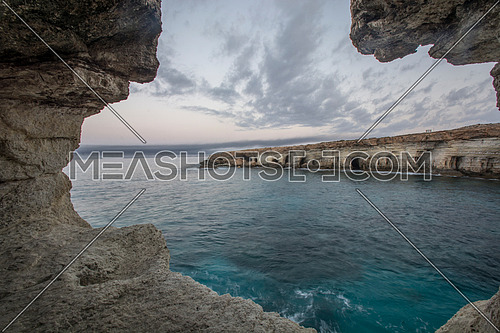 Sea caves,Cape Greko. Mediterranean Sea,Cyprus