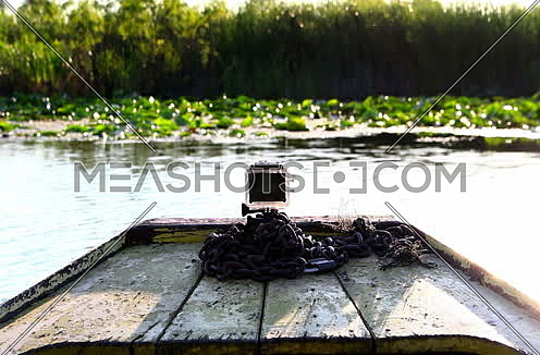 Camera attached on a boat  at the lake