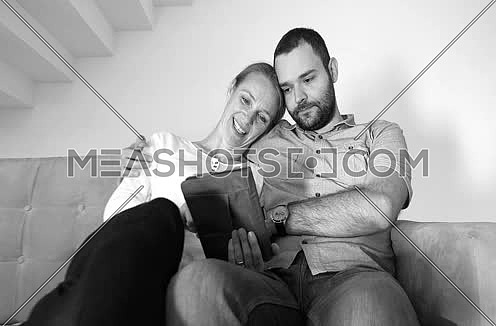couple enjoying free time at modern home