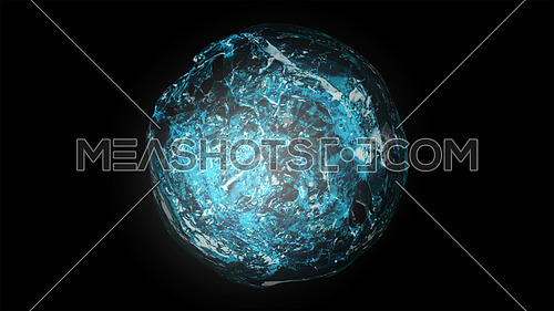 Drop of water 3D render
