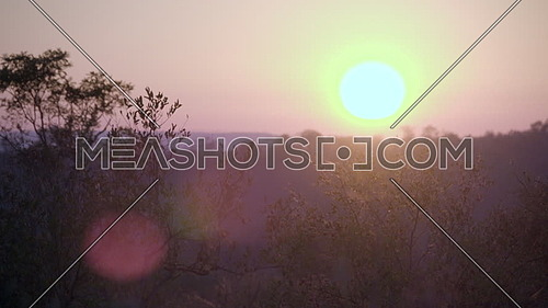 Shot of African sunrise causes lens flare