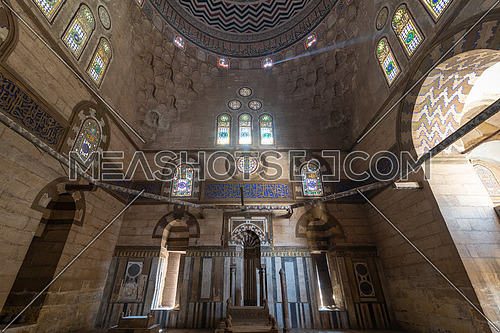 Mausoleum of Sultan Al Zaher Barquq and sons at the complex of Al Nasr Farag Ibn Barquq complex located at the city of the dead, Cairo, Egypt