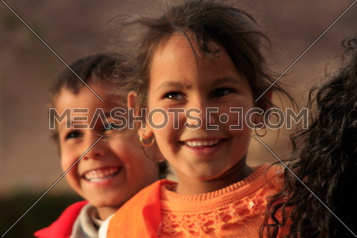Heavenly Smiles / Fatma and her brother in Wadi Feran in Southern Sinai