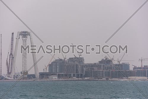 DUBAI UAE 2 FEBRUARY 2017 Dubai Eye under construction united arab emirates