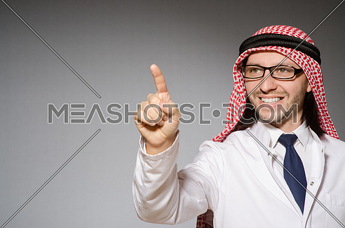 Arab doctor in diversity concept