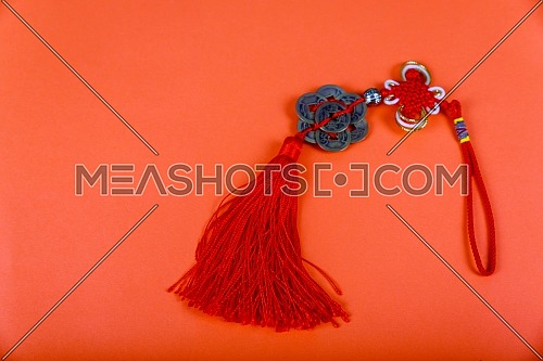 Chinese New Year background. Chinese good luck symbol isolated on red