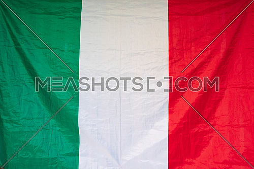 amazing Italian flag, natural light during the day.