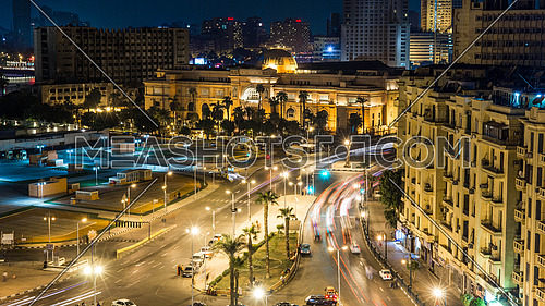 Tahrir Square Night Long Exposure