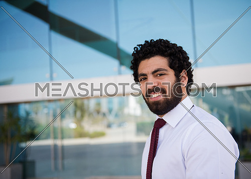 portrait of handosme middle eastern business man