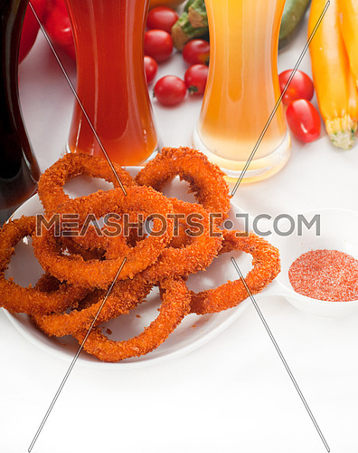 deep fried calamari rings served with selection of black,red and blonde beer ,MORE DELICIOUS FOOD ON PORTFOLIO