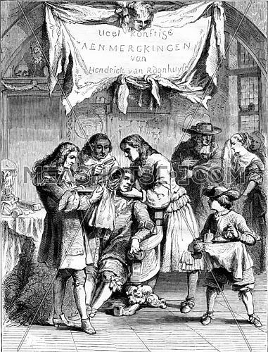 An operation. Print Romain de Hooghe, vintage engraved illustration. Magasin Pittoresque 1867.