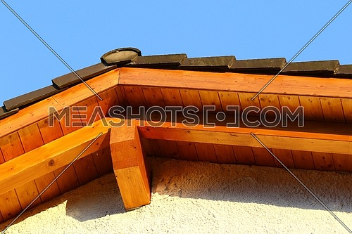 New roof top detail with ceramic tiles