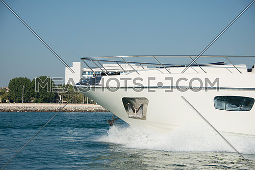 yacht front sailing