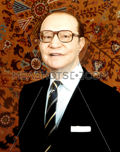 Legendary Music composer Mohamed Abdel El Wahab Portrait in 1989