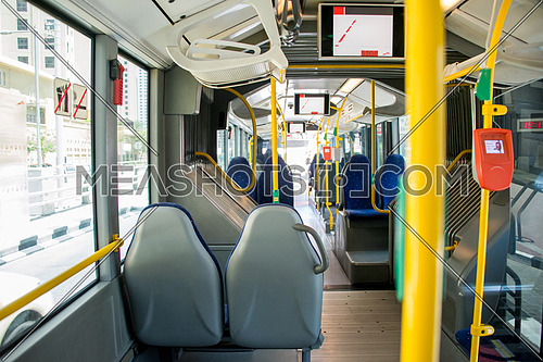 inside RTA dubai bus