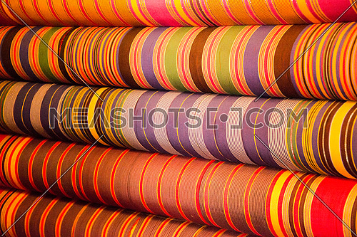 abstract colorful rolls of cloth