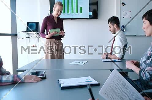 creative business team in a meeting