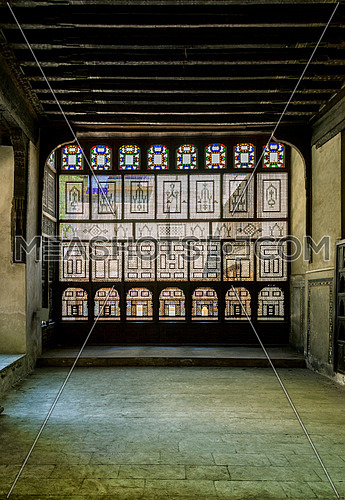 an interior arabesque  wall in ElSehemy historic house in cairo egypt