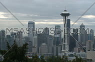 Downtown Seattle morning - pan