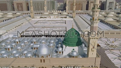 Ariel shot drone for Al-Masjid an-Nabawi in KSA at day