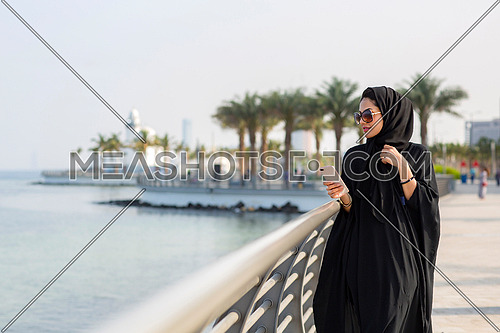 Saudi lady in a holiday in Jeddah city