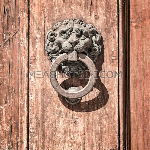 In the picture a knock door ancient medieval historic center of Florence.