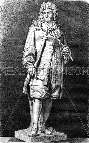 John of the Quintinye by Cougny, vintage engraved illustration. Magasin Pittoresque 1876.