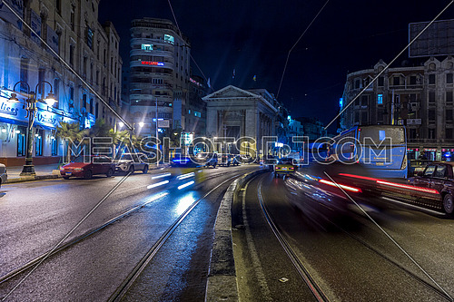 Long shot for Stock Market Bulding in Alexandria at night