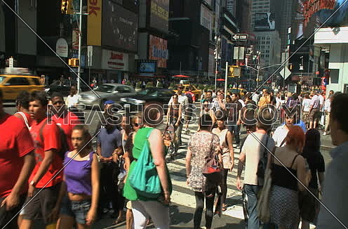 pedestrian crossing in New York city