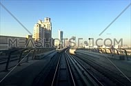 A Timelaps shot from Dubai Metro traveling North