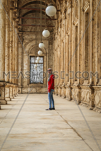 A Girl standing in Mohamed Ali mosque - Cairo