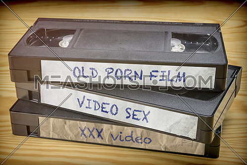 Some old movies sex video in VHS system, conceptual image