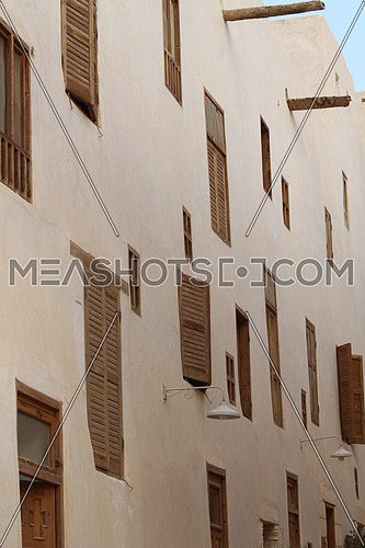 shutters on old catholic monastary