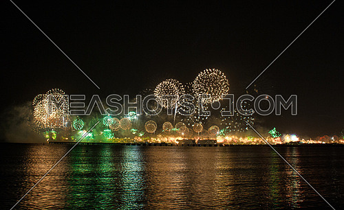 New Year eve fireworks inThe Palm Dubai