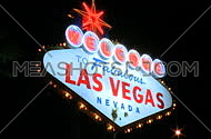 Night shot of Vegas sign - pan right (3 of 3)