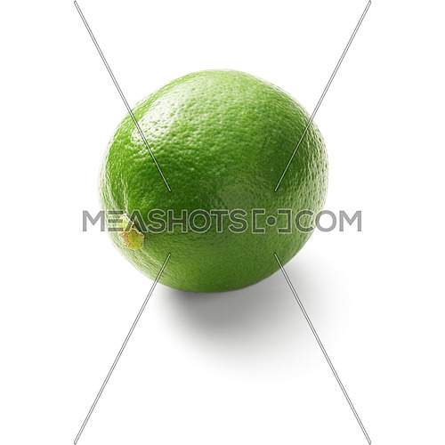 green fresh lime isolated over white background
