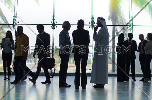 An Arab businessman in a casual meeting with company employer