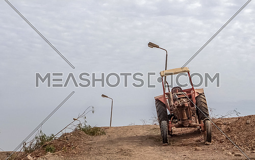 Agricultural equipment on poor farm