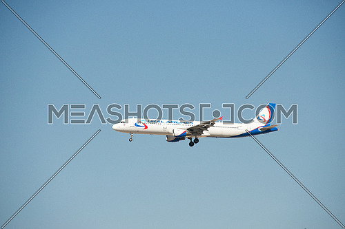Ural airlines Airbus A321-200 Airplane landing