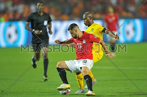 CAIRO, EGYPT - JUNE 21: abdallah el said of Egypt during the 2019 Africa Cup of Nations Group A match between Egypt and Zimbabwe at Cairo International Stadium on June 21, 2019 in Cairo, Egypt.