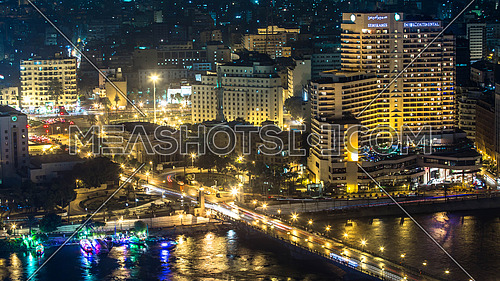 Wide Shot of Cairo Downtown