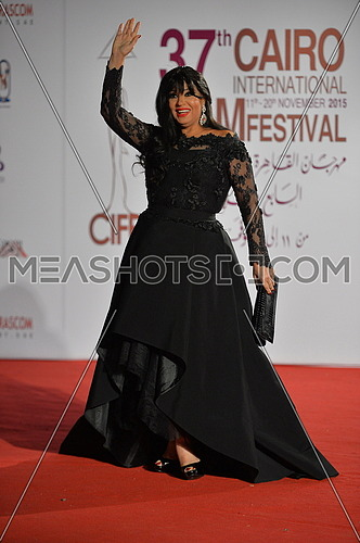 famous egyptian belly dancer fifi abdu during the red carpet event opening of the 37th Cairo film festival at the opera house in Cairo Egypt