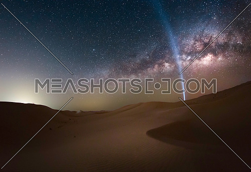 Beautiful Milkyway galaxy in the middle of the desert