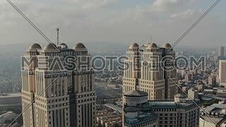 Flying over Nile towers, Cairo