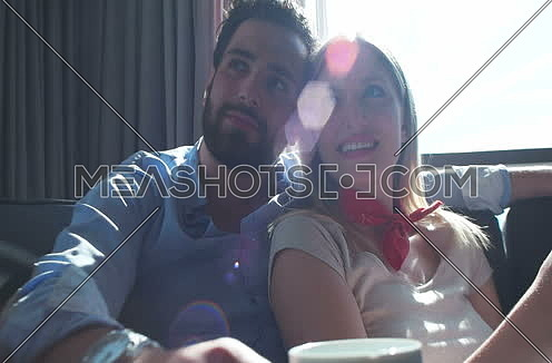 Tablet Being Used By Caucasian Couple