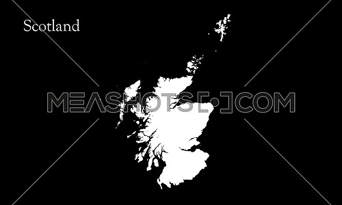 Map Of Scotland Alpha Channel On Black Background 3D illustration