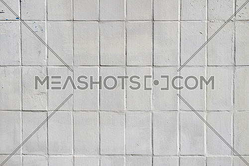 White painted ceramic tile wall pattern texture background