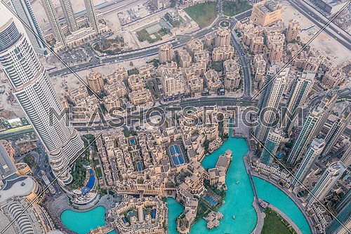 View of the address hotel downtown dubai from Burj Khalifa Dubai